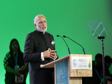 PM Modi speaks at the launch of the International Solar Alliance. PTI