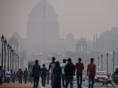 File Image Delhi through the smog.AFP