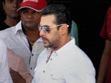 File photo of Salman Khan outside a Mumbai court. PTI