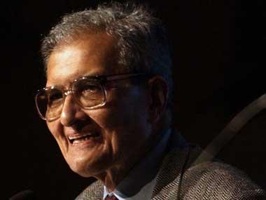 Amartya Sen in file photo. AFP