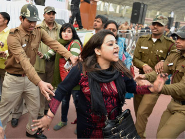 Bhawna Arora was sent to 14-day judicial custody for trying to throw ink on Delhi CM Kejriwal. PTI