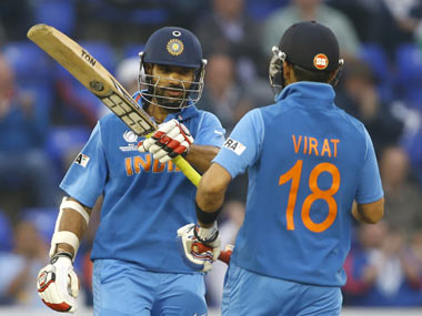 File image of Shikhar Dhawan and Virat Kohli. AP