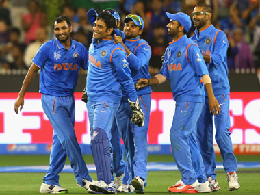 Indian team in action during the World Cup 2015. Getty