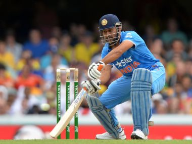 MS Dhoni's batting form is a concern for India. Getty