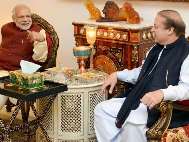 File image of Narendra Modi's meeting with Nawaz Sharif. AFP
