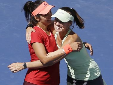 File image of Sania Mirza and Martina Hingis. AP
