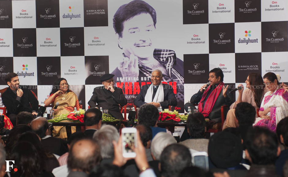 Actor-MP Shatrughan Sinha's launched his biography 'Anything but Khamosh' on Wednesday at Hotel 'The Claridges'. Naresh Sharma/Firstpost