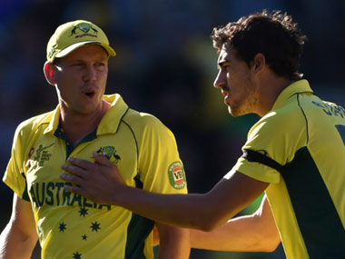 File photo of James Faulkner (L). AFP