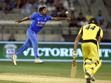 Umesh Yadav was a model of inconsistency at the MCG. AP
