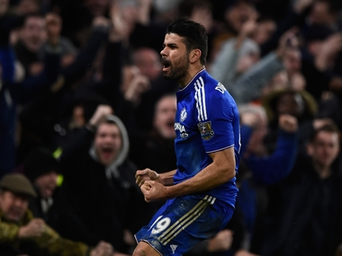 Diego Costa scored in injury time to hand Chelsea a draw against Manchester United. Getty