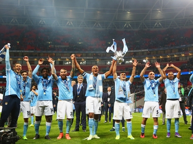 Manchester City were crowned League Cup champions for the third time in four years. Getty