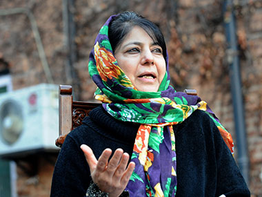 PDP chief Mehbooba Mufti. AFP