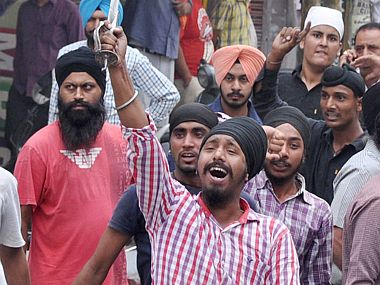 Protests in Punjab. File photo. PTI
