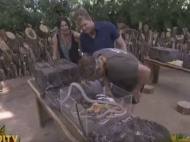 Shane Warne in a screengrab from the video.