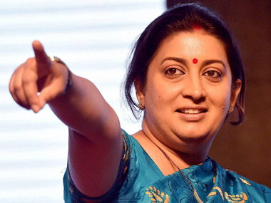 Smriti Irani now leads the race for CM's post. PTI