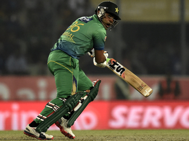 Pakistan's Umar Akmal during the Asia Cup clash against Sri Lanka on Friday. AFP