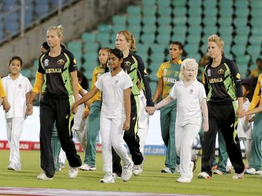 Australia Women in their match against South Africa. PTI