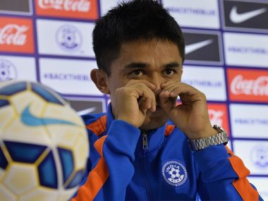 Indian captain, Sunil Chhetri. Getty Images