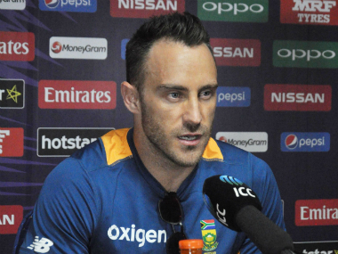 South African T20 captain Faf du Plessis at the post-match media interaction on Friday. Solaris Images