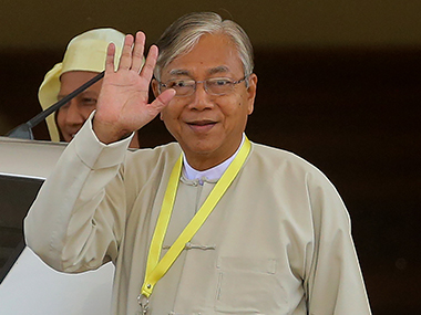 U Htin Kyaw in a file photo. AFP