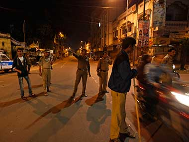 File image of Hyderabad police. AP
