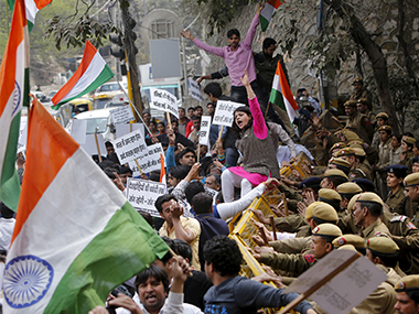 File photo of the protests at JNU. REUTERS