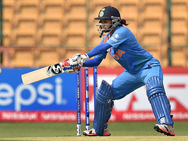 Mithali Raj in action in the World T20. PTI