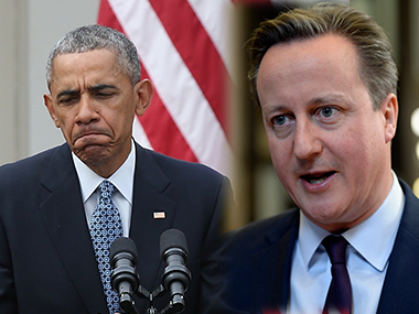 Obama in an interview with The Atlantic made some remarks about David Cameron. Getty Images and AFP