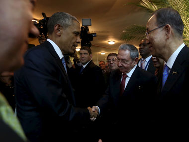 Barack Obama met with Cuban counterpart Raul Castro in Havana. Reuters