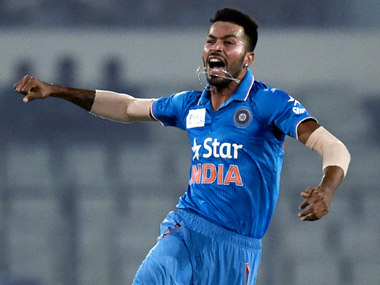 A fast-bowling all-rounder, Hardik Pandya is a rare find for India. AFP