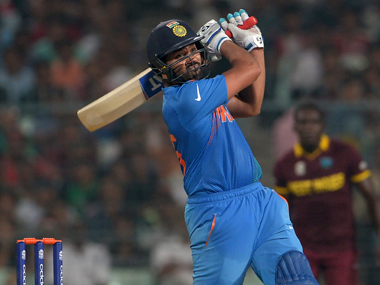 Rohit hit a sublime unbeaten 98. AFP