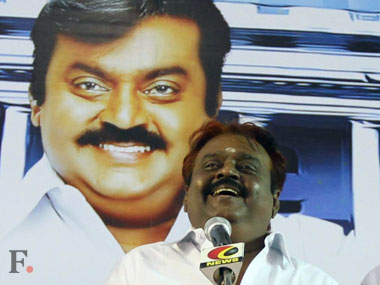File image of actor-turned politician Vijayakanth.