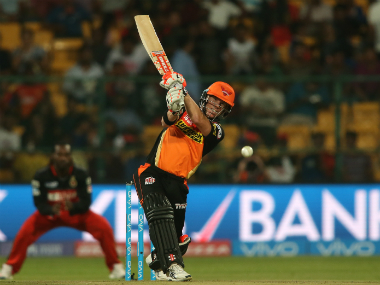 SRH captain David Warner, who scored a lone half-century in the previous game, will hope for a better performance from his side against KKR. Sportzpics/IPL