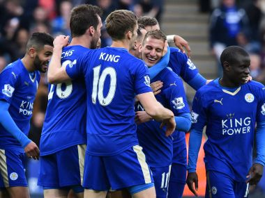 Leicester City inch closer to Premier League title with a 4-0 win over Swansea. AFP