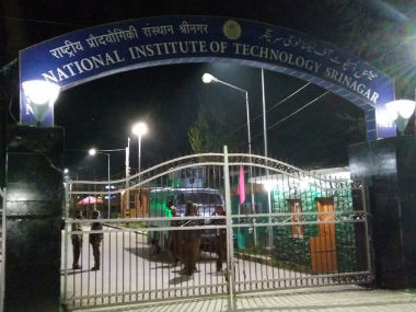 NIT campus in Srinagar. Image courtesy IBNLive