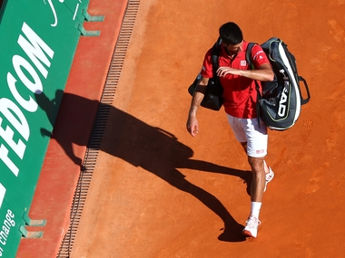Novak Djokovic at Monte Carlo Masters. Getty