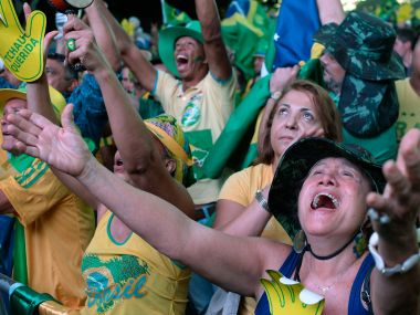Activists supporting the impeachment of Brazilian President Dilma Rousseff in Rio. AFP