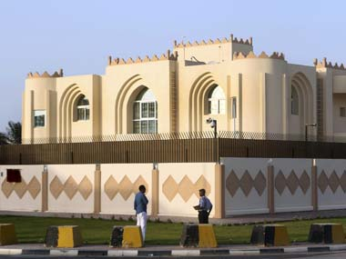 A file photo of Taliban office in Doha. AP