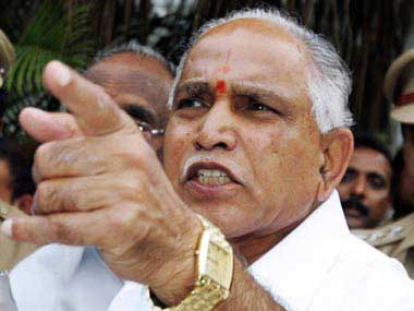 B S Yeddyurappa. File photo. AFP