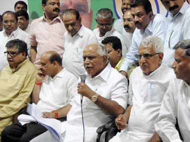 B S Yeddyurappa. File photo. PTI