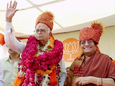 File photo of BJP Senior Leader LK Advani and his wife Kamla Advani. PTI