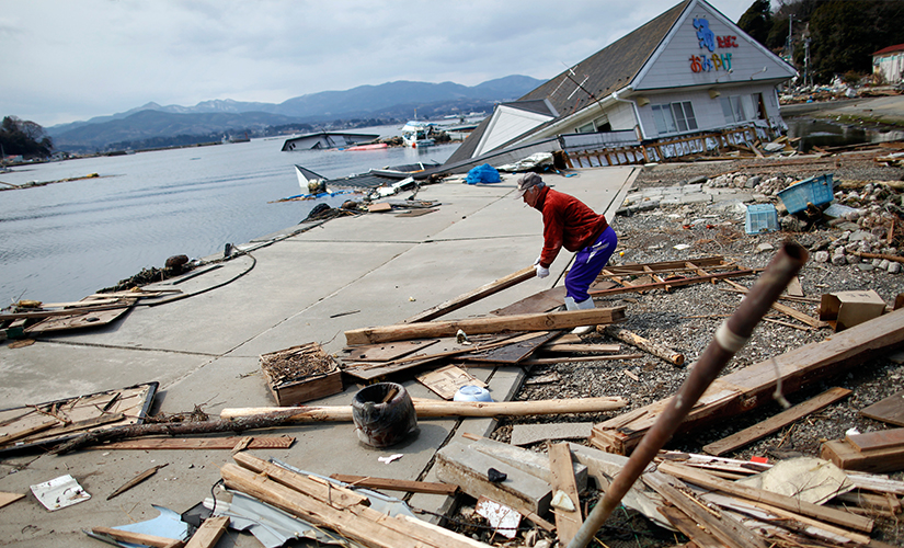 The earthquake in Japan. File photo. Reuters