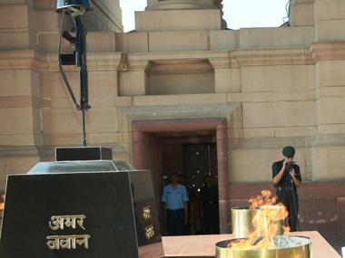 Saluting the brave. Image courtesy PIB