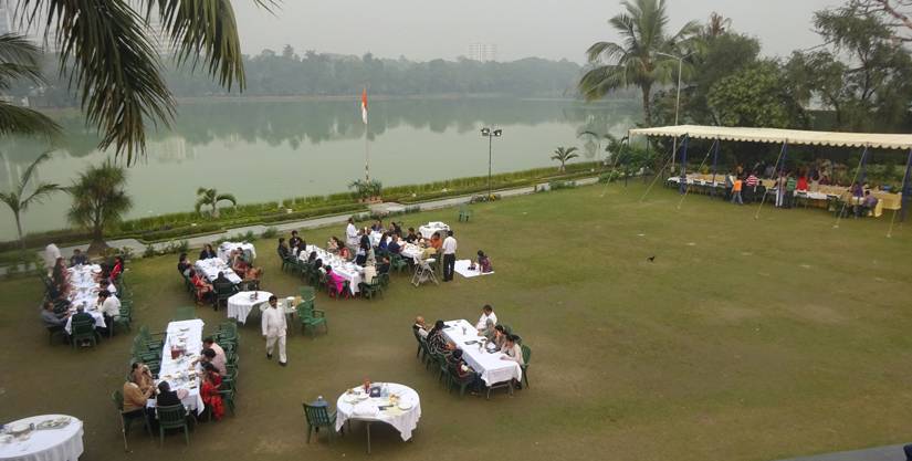 Breakfast is served at the Bengal Rowing Club