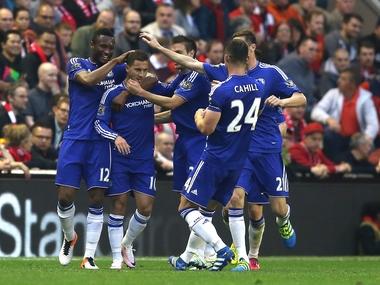 File photo of Chelsea players. Getty
