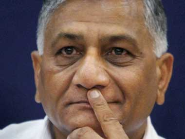 Minister of State for External Affairs VK Singh. PTI