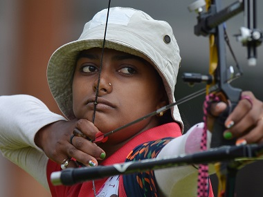 Deepika Kumari in a file photo. AFP