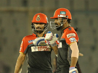 KL Rahul credited RCB skipper Virat Kohli (left) as well as AB de Villiers for helping him improve his batting skills. Sportzpics/IPL