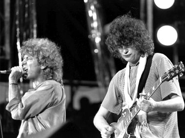 File photo of Robert Plant and Jimmy Page of the Led Zeppelin. AP