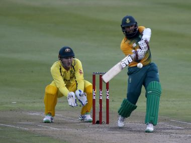 South Africa's Hashim Amla plays a shot. Reuters